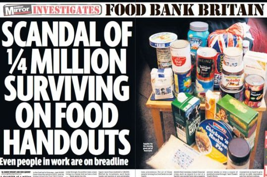 Food bank investigation by the Sunday Mirror